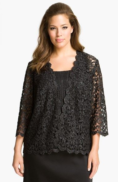 Alex Evenings Lace Twinset (Plus) available at #Nordstrom