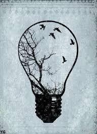 Image result for geometric lightbulb tattoo