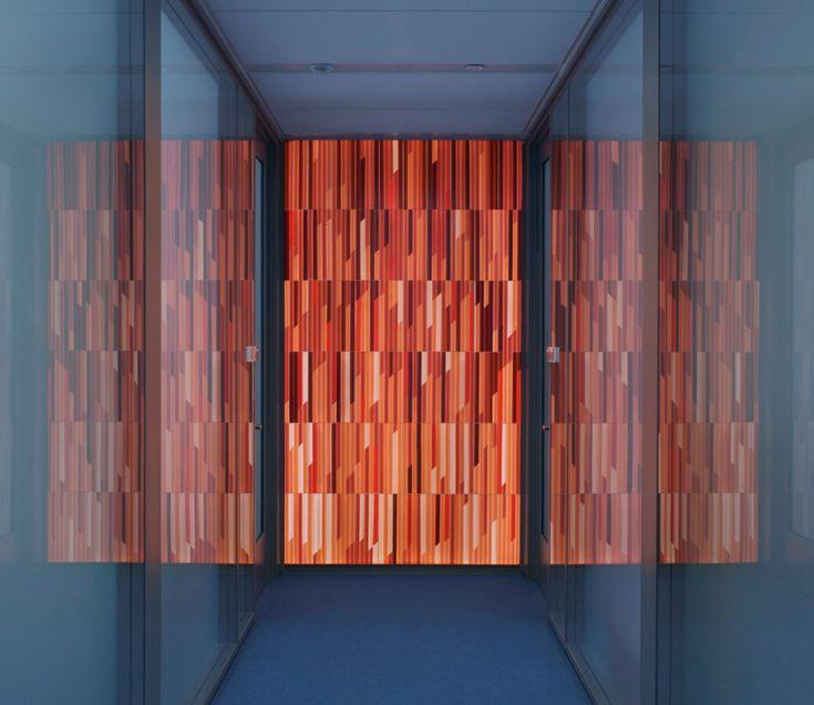 Glass Art | Art glass wall by Paul Housberg; Princeton University, Frick Chemistry ...