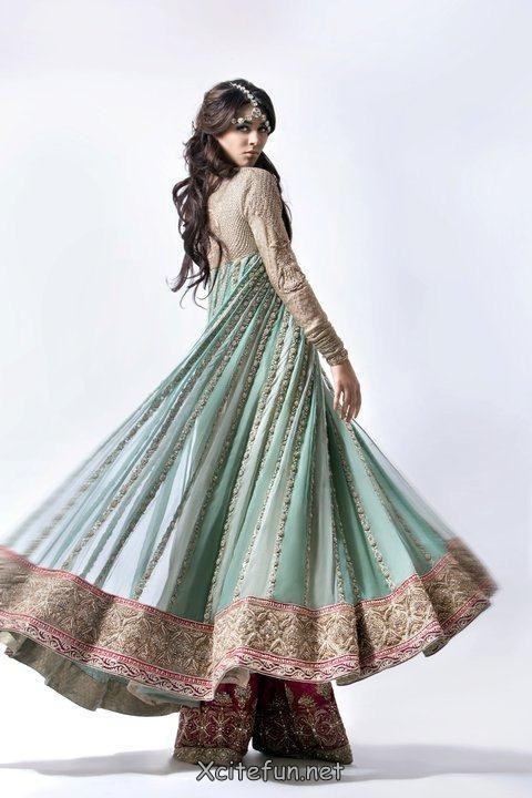 Khadijah Shah Pret Line Dress Eid Period. I just love it when clothes move! Nice.