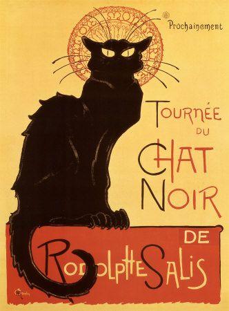 (Théophile Steinlen, Tournée du Chat Noir, 1896) Le Chat Noir foi um cabaré francês no final do século XIX, situado na Boulevard Rochechouart, nº 84 em Montmartre, distrito de Paris.