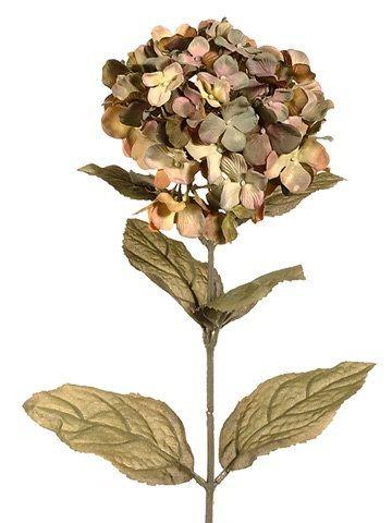 27 Inch Hydrangea Spray in Shades of Brown  by BlissfulSilks