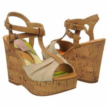 JELLYPOP Crescent Sandals (Natural Canvas) - Women's Sandals - 10.0 M