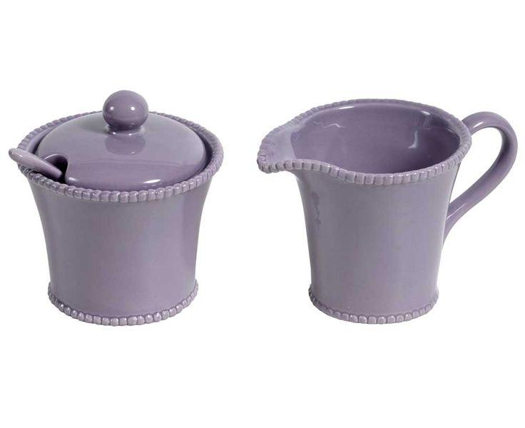 Urocza ceramiczna cukiernica i mlecznik - kolekcja Parma #Belldeco. Dzięki klasycznej formie znakomicie wkomponują się w każde wnętrze! #homedesign #ceramics #homedecor #design