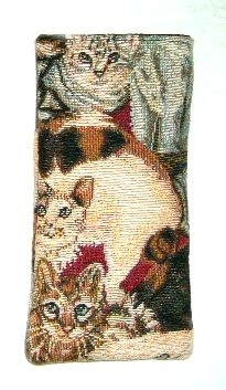 Tapestry Cats Glasses Case