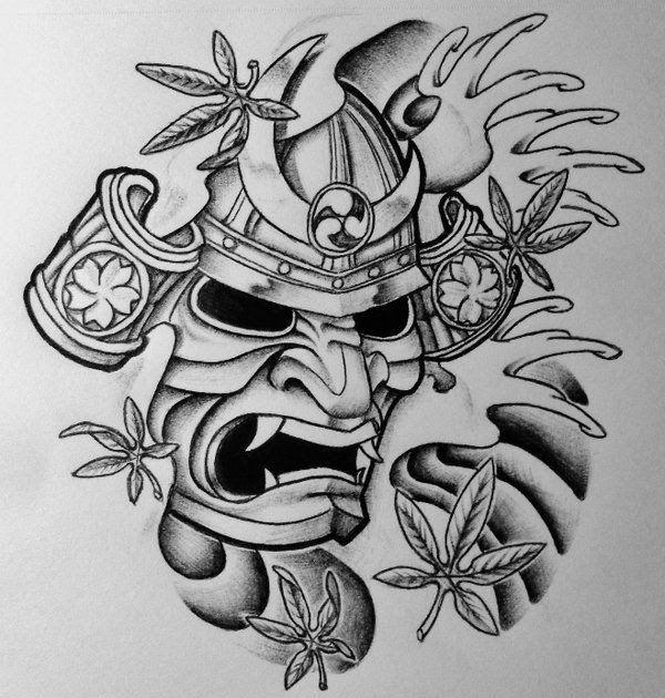 Fantastis 19 Desain Tato Yakuza Samurai Mask And Japanese Maple By 814ck5t4r On Deviantart 120 Tato Lengan Jepang Untuk Pria Di 2020 Desain Tato Tato Yakuza Tattoo