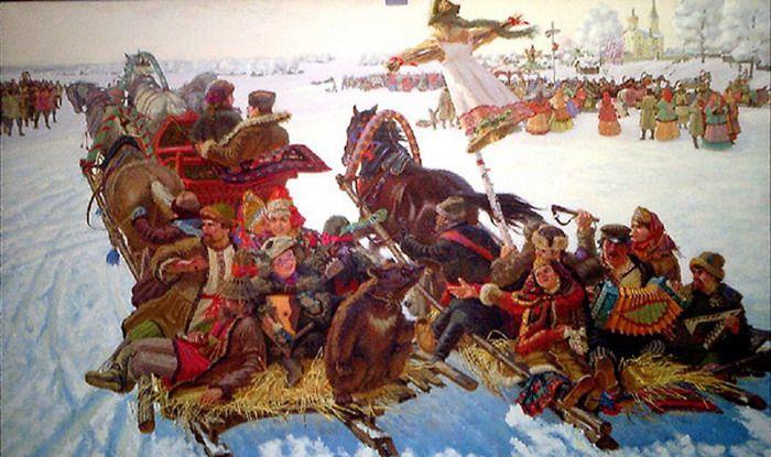 Russian traditions on Maslenitsa week