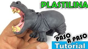 ✅ COMO HACER UN HIPOPOTAMO DE PLASTILINA PASO A PASO ✅ POLYMER CLAY