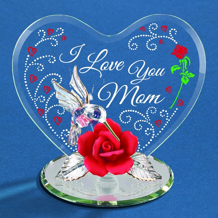 Glass Baron I Love You Mom Hummingbird Figurine #mothersday #mom #glassbaron #rose #heart: Hummingbirds Figurines, Gift Ideas, Mom Glassbaron, Figurines Mothersday, Mothersday Glassbaron, Love You Mom, Glasses Baron, Glassbaron Hummingbirds, Mom Mothersday