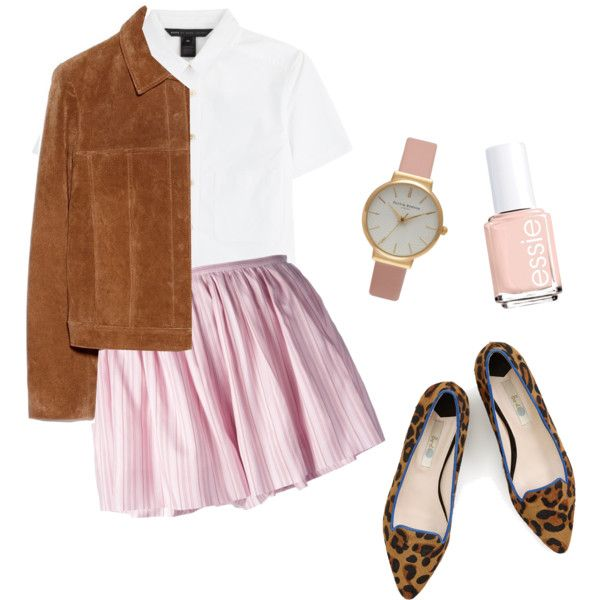 Pretty pink by hypeway on Polyvore featuring mode, MARC BY MARC JACOBS, MANGO, Thakoon, Boden, Olivia Burton and Essie