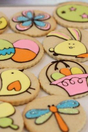 Galletas de pascua, con diseños originales para las que no se necesitan moldes especiales - Easter Cookies