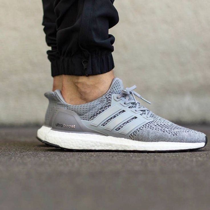 Adidas Ultra Boost White Grey Sneakiesss Adidas