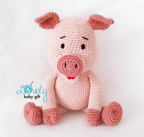 Free Amigurumi Patterns Guinea Pig : Bob the Piggy amigurumi pattern by Lovely Baby Gift ...
