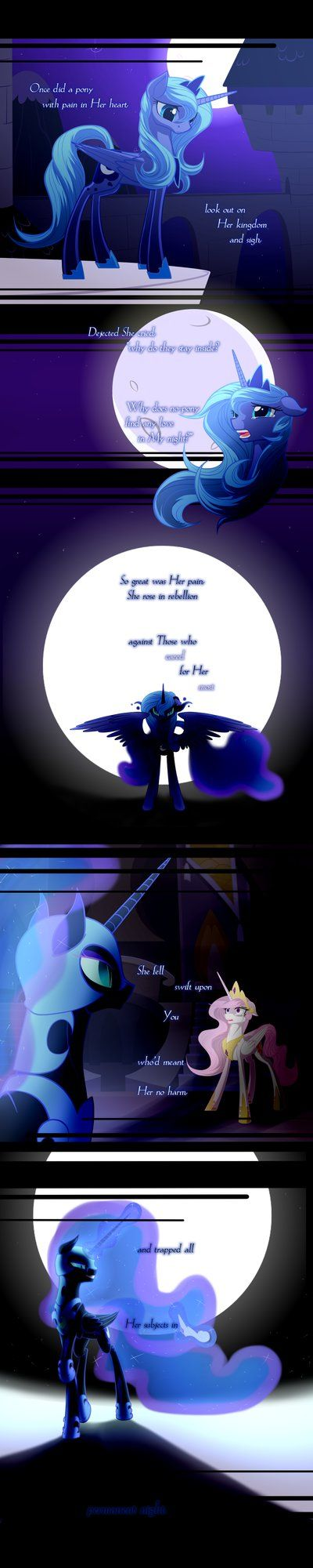 Luna's Reply Lyric Comic (pt. 2 of 7) by JazzyBrony on DeviantArt