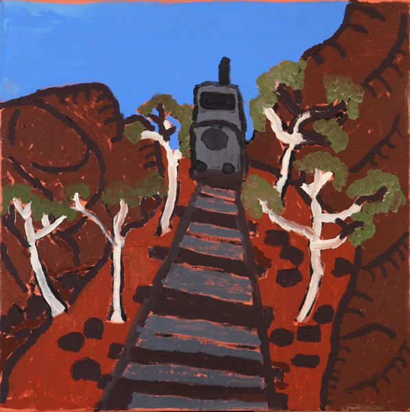 Vincent Namatjira - 'The Ghan' - Outstation Gallery - Aboriginal Art from Art Centres