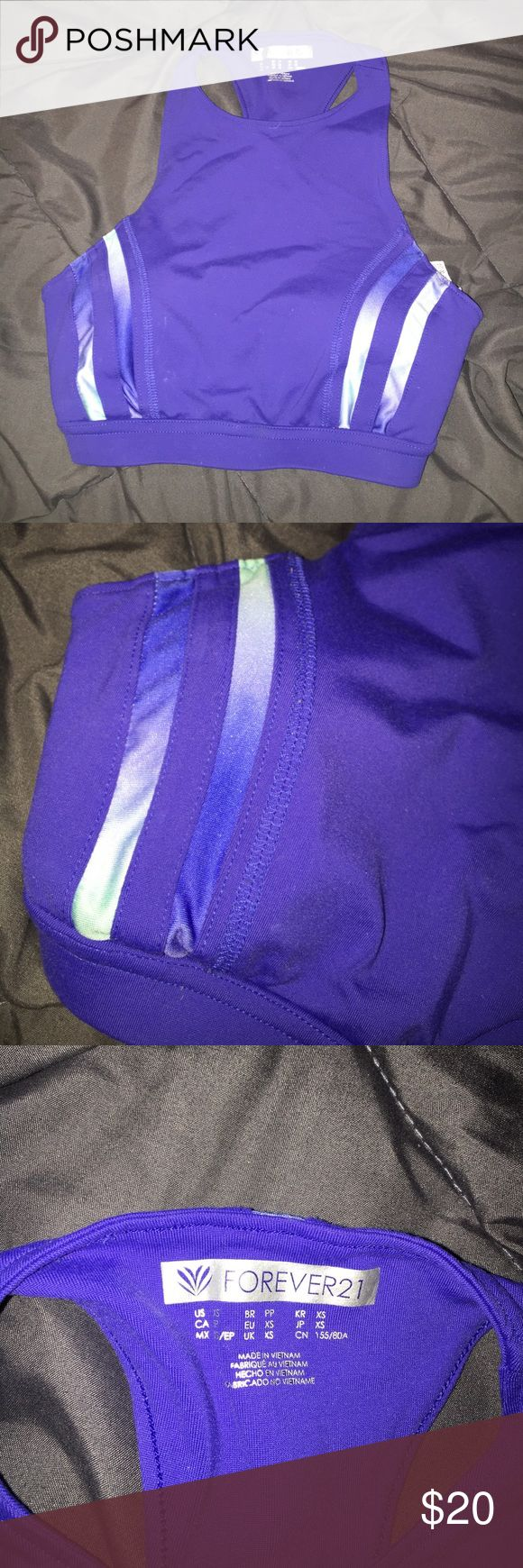 High Neck Sports Bra High Neck Padded Purple Sports Bra purchased from Forever21; excellent condition worn 3-4 times max. Pads are able to be taken out or put in. Logo on back is reflective. ‼️Not VS just using brand for exposure‼️ PINK Victoria's Secret Intimates & Sleepwear Bras