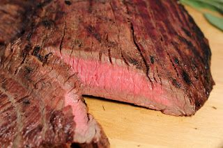 Red Wine and Soy Marinated Flank Steak with Grilled Potato Packets