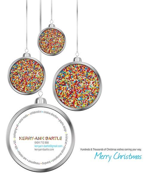 Hundreds and Thousands Christmas eDM design for 2013.