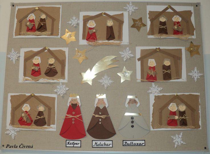Betlém - vánoční tvoření z koleček