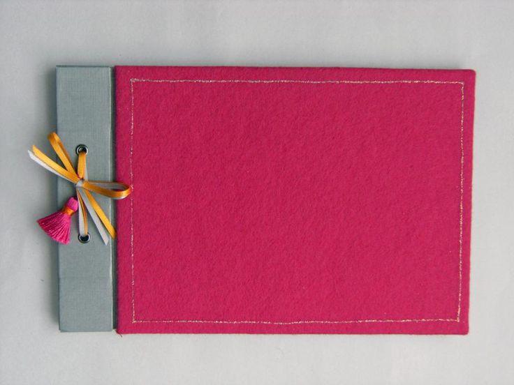 Cute Pink Felt Scrapbook Photo Album