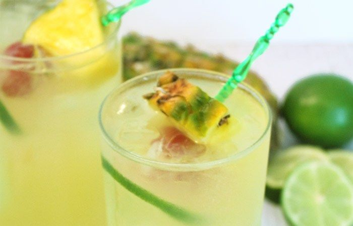 Pineapple Coconut Mojito rim | 2 Cookin Mamas
