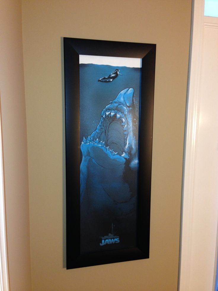 Just got this Jaws Art Print in the mail from www.joshuabudich.com/store/ All I can say is WOW!!! Love it and there are still some left! Have to say it looks pretty good in our frame!!! Thanks Joshua!!!