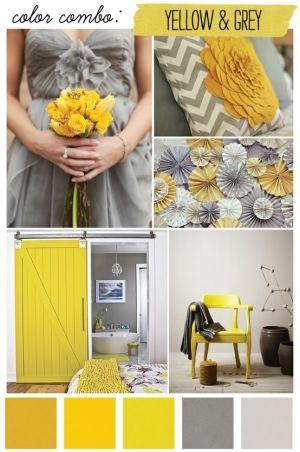 grijs en geel / yellow and grey