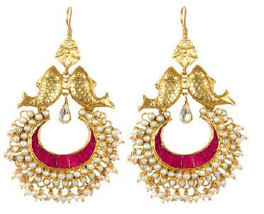 jaypore by earrings silver com online at of buy pair amrapali tribal