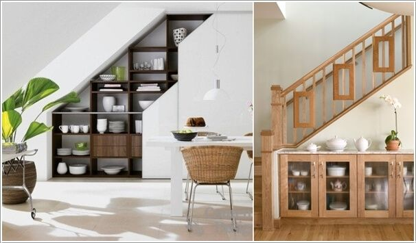 Install a crockery cabinet under the stairs storage for Under the stairs cabinet