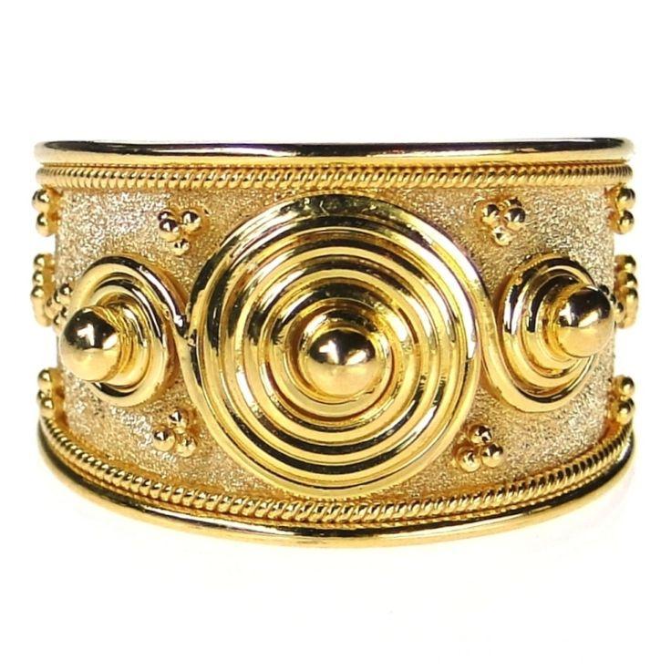 Damaskos Triple Spiral Infinity Ring, 18k Gold. http://www.athenas-treasures.com/products/Damaskos-Triple-Spiral-Infinity-Ring.html.  This and more handmade Greek jewelry at Athena's Treasures: www.athenas-treasures.com
