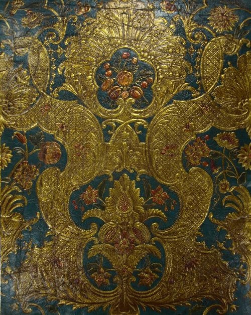 Daniel Marot, gilded leather.