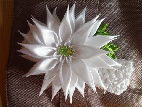 D.I.Y. Full Bloom Satin Ribbon Rose - Tutorial - YouTube