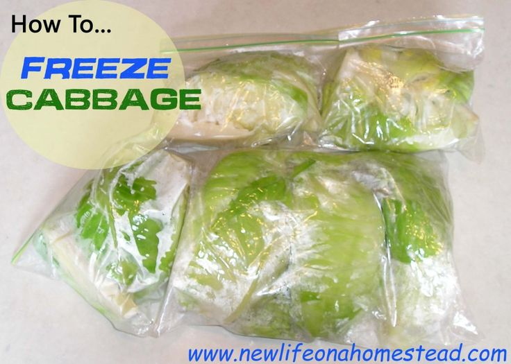 How To Freeze Cabbage. Very informative pin.