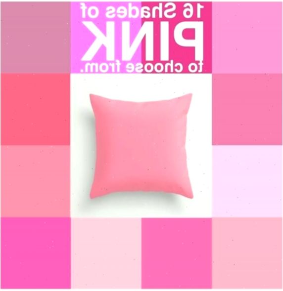 Pink Pillow Cover Pink Throw Pillow Pink Cushion Pink Bedroom Pink Home Decor Choose Your Color Custom Color Square Rectangle Shams In 2020 Pink Cushions Pink Home Decor Pink Throws