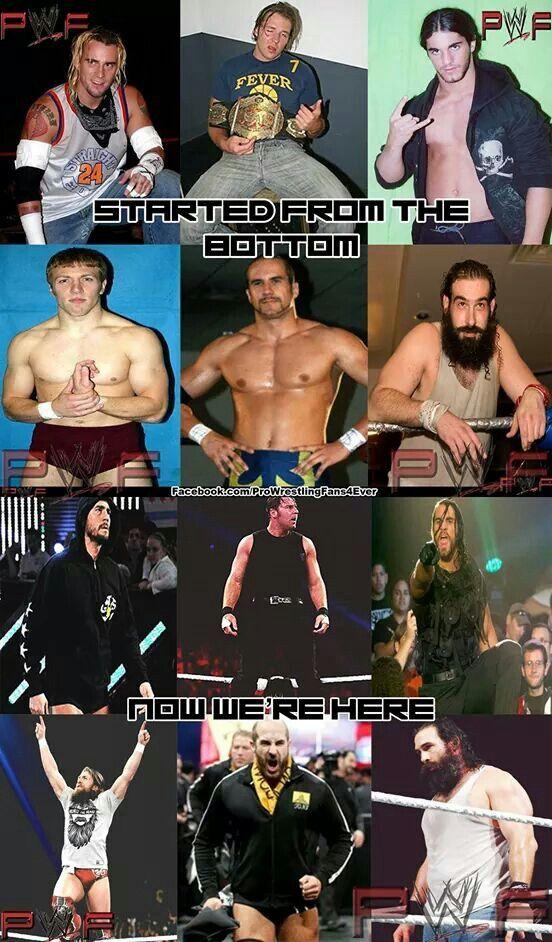 Cm Punk Dean Ambrose Seth Rollins Daniel Bryan Goldberg & Luke Harper Then & Now