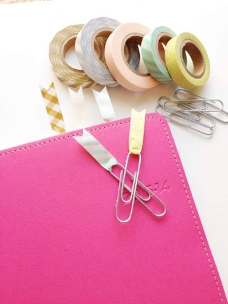 Twine and Tape: Washi Tape Paper Clips