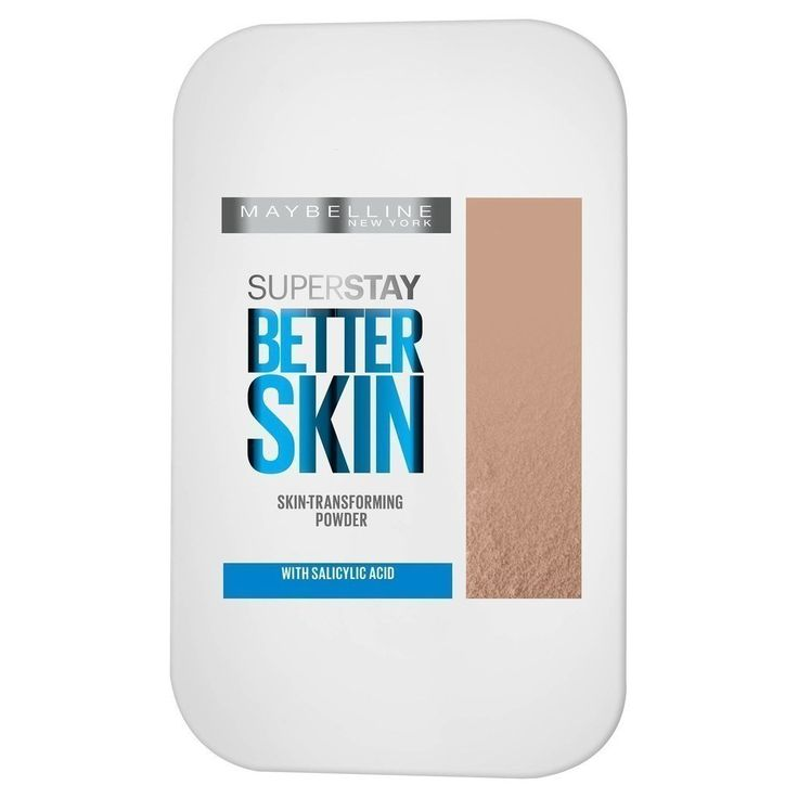 """Maybelline Better Skin Powder Foundation, a setting powder with salicylic acid that'll actually improve acne-prone skin.  amazon.com  amazon.com """"2016 has had some great new drugstore products, but this one is my favorite finds. Hands down the best powder foundation — great for touchups or even to set your liquid foundation. LITERALLY makes your skin look better: soft, smooth and poreless. Amazing! And the lightest shade is *actually* light enough for us pale girls!"""" $8.99"""