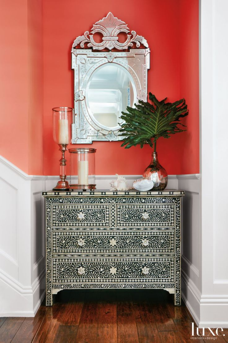 Best 25 orange wall mirrors ideas on pinterest dining room orange wall mirror amipublicfo Gallery