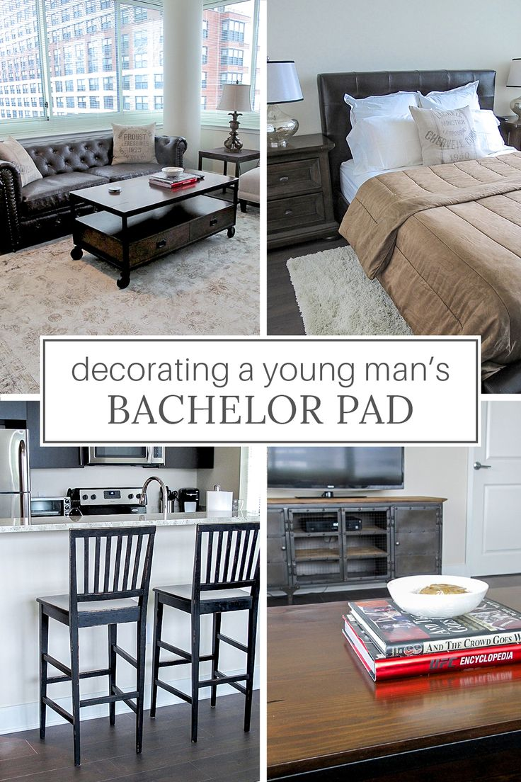 Bachelor Pad Ideas Decorating a Young Man's Apartment on