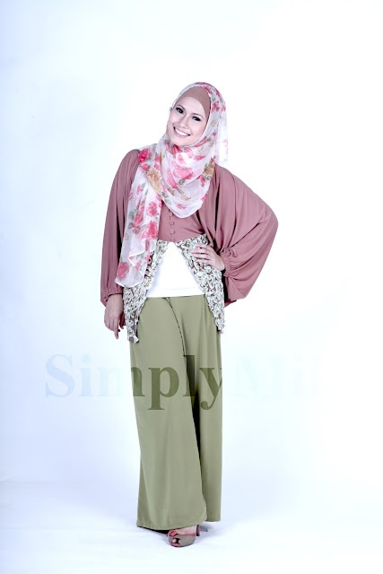 SimplyMii - Sofie Circle Cardigan - Caramel IDR 195.OOO (All Size) | Sofie Basic Palazzo - Lime IDR 195.OOO (Size S-M and M-L)