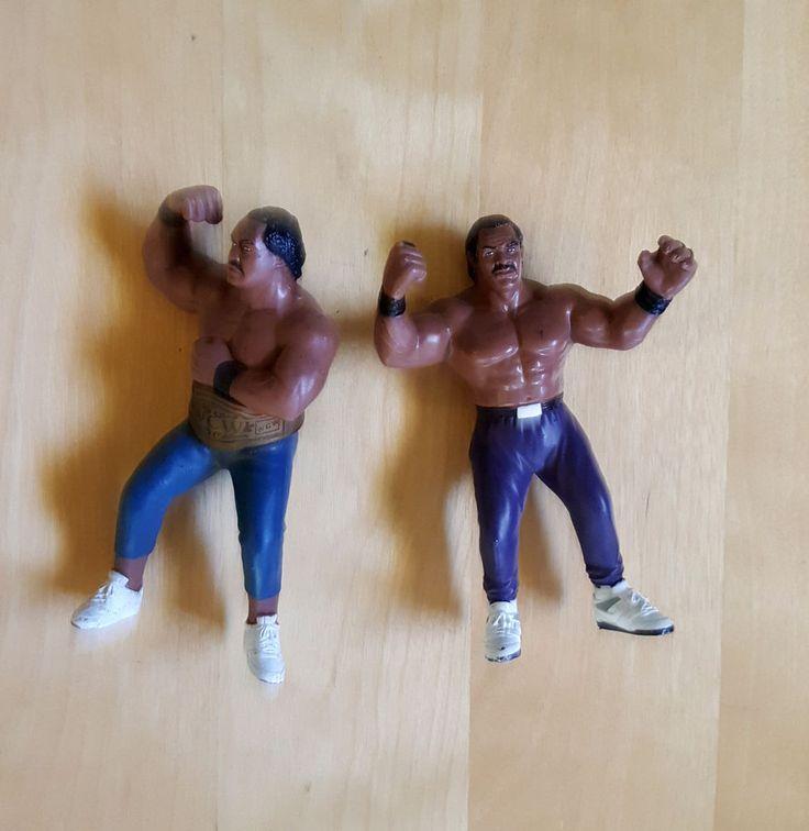 WCW GALOOB RON SIMMONS & BUTCH REED W/ BELT WCW DOOM WWE WWF WRESTLING figures #Galoob