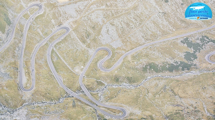 The most awesome road from Romania, Transfagarasan, photographed from plane. :) http://www.zborpestetransilvania.ro/transfagarasan/