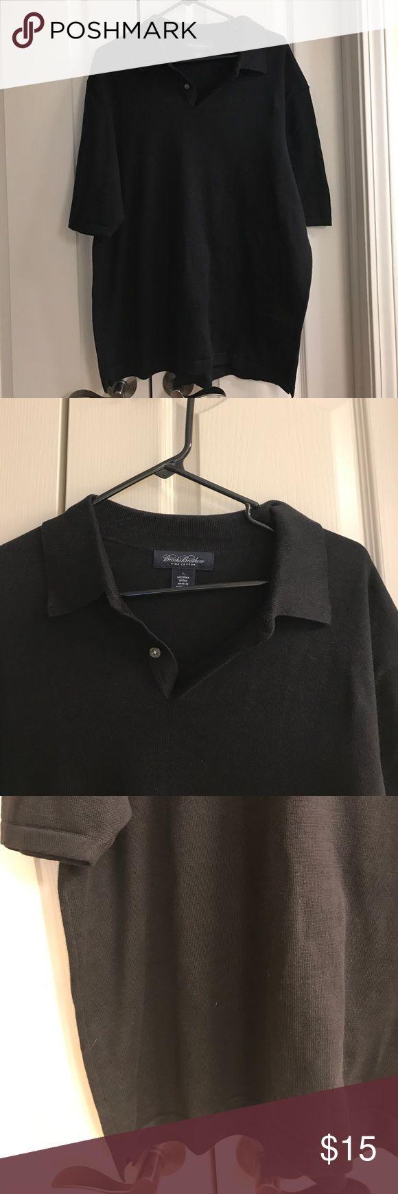 Size Large Brooks Brothers black polo shirt Size Large Brooks Brothers black polo shirt Brooks Brothers Shirts Polos