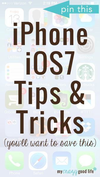 iPhone iOS7 Tips and Tricks...for when I get an iPhone in America...