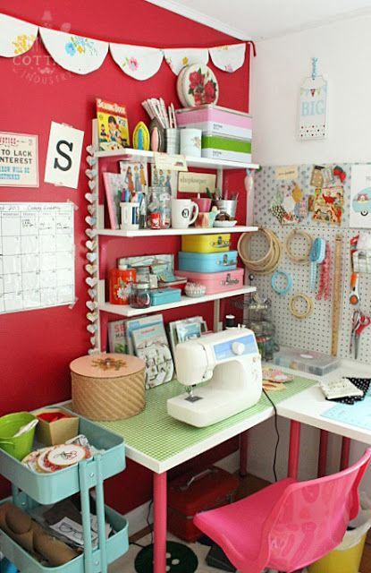 Craft Room Tour Featured on Craft Room Ideas:  Cottage Industry