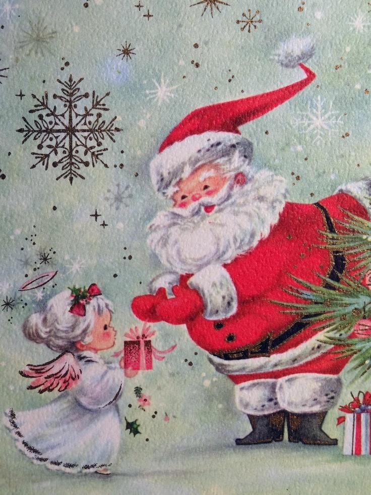 Best vintage santa claus pictures images on pinterest