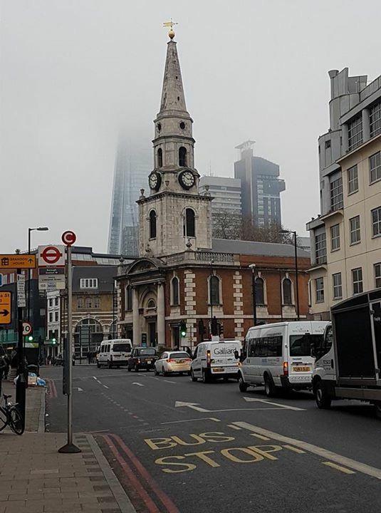 The Borough High Street, Looking North, Borough South East London England on Thursday Morning 16 November 2017