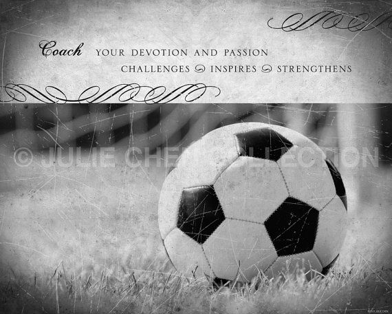 Personalized Soccer Coach Gift Soccer Art by LifeVerseDesign