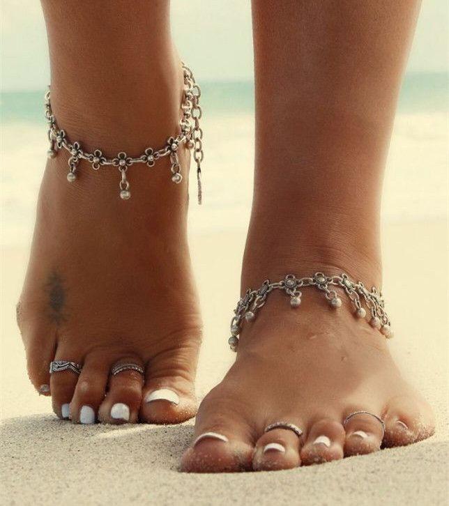 Vintage Bracelet Foot Jewelry Pulseras Retro Anklet For Women / Girl Ankle Leg…