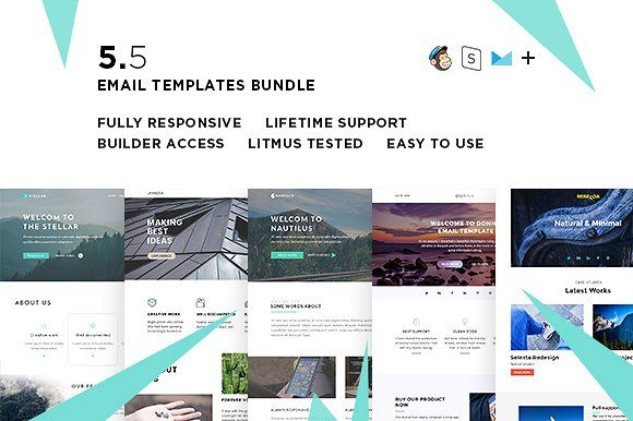 5 Email templates bundle V  @creativework247